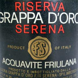 """dettaglio etichetta anni '70 con """"PRODUCT OF ITALY"""": internazionalizzazione ante litteram"""