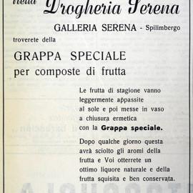 pubblicità anno 1964 per il Barbacian, periodico della Proloco di Spilimbergo